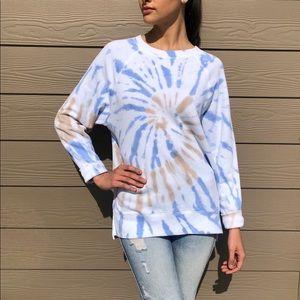New PINK Tye Dye Crewneck Sweatshirt Size XS